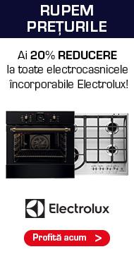 Promotii Electrocasnice Electrolux 20% Reducere