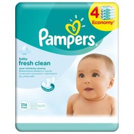 Servetele umede PAMPERS Baby Fresh Clean, 4 x 64 buc