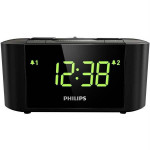 Radio desteptator PHILIPS AJ3500, Gentle Wake, Timer Sleep, FM, negru