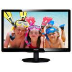 """Monitor LED PHILIPS 200V4QSBR, 19.5"""", Full HD, negru"""