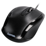 Mouse optic HAMA AM-5400, cu fir, 800dpi, negru