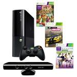 Consola MICROSOFT Xbox 360 4GB + Kinect Sensor + 3 jocuri ( Kinect Adventures, Kinect Sport, Forza Horizon)