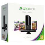 Consola MICROSOFT Xbox 360 500GB + Kinect Sensor + 3 jocuri ( Forza Horizon, Kinect Sports Season 1, Kinect Adventures)