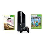 Consola MICROSOFT Xbox 360 500GB + 2 Jocuri  (Forza Horizon 2, Minecraft)