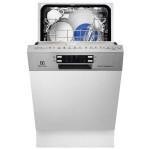 Masina de spalat vase semi-incorporabila ELECTROLUX ESI4620ROX, 9 seturi, 6 programe, 4 temperaturi, 45 cm, A++, inox