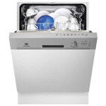Masina de spalat vase semi-incorporabila ELECTROLUX ESI5201LOX, 13 seturi, 5 programe, 4 temperaturi, 60 cm, A+, inox