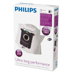 Set 3 saci de aspirator PHILIPS Ultra Long Performance FC8027