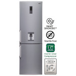 Combina frigorifica No Frost LG GBF539PVQWB, 314l, A+, inox