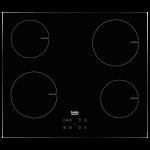Plita incorporabila BEKO HII64401AT, inductie, 4 zone de gatit, negru