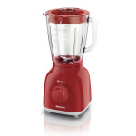 Blender PHILIPS Daily Collection HR2105/50, 2 + Impuls, 400W, rosu