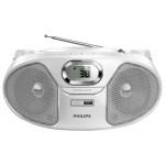 Radio CD Soundmachine PHILIPS AZ385W/12, alb
