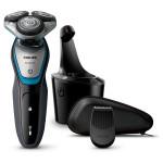 Aparat de barbierit umed si uscat PHILIPS AquaTouch S5400/26, 45 min, gri - albastru