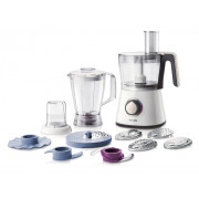 Robot de bucatarie PHILIPS Viva Collection HR7761/00, vas 1.5l, blender 1.0l, rasnita, 750W, alb